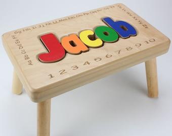 Name Stool with  Alphabet