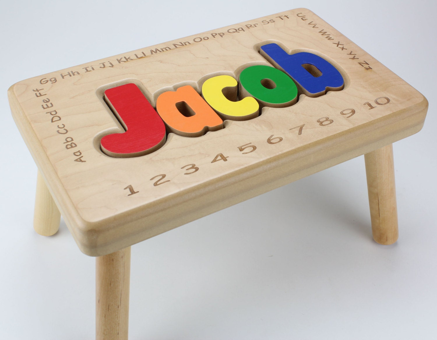 Name stool with alphabet