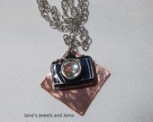 Mixed Metal camera necklace ON SALE