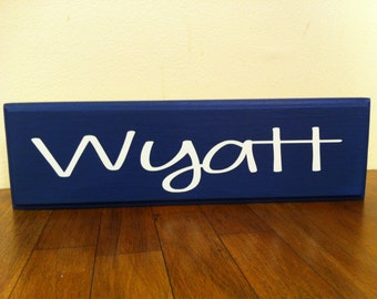 Personalized 1ft Wood Name Sign- NOT distressed