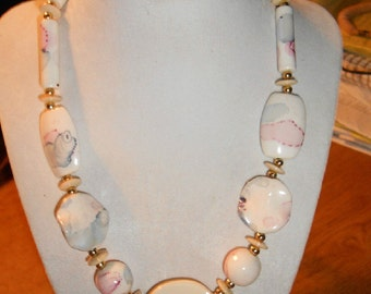 Ceramic Vintage Necklace early 80's