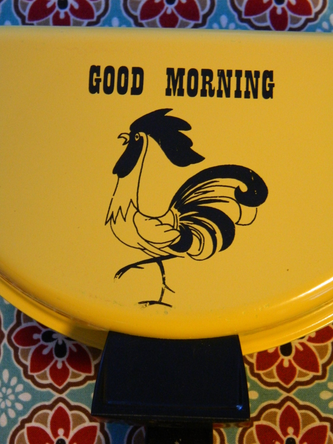 Good Morning Vintage Photos : Vintage good morning yellow rooster omelet by