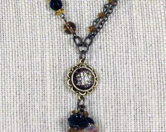 Topaz Sparkle Necklace and Earrings
