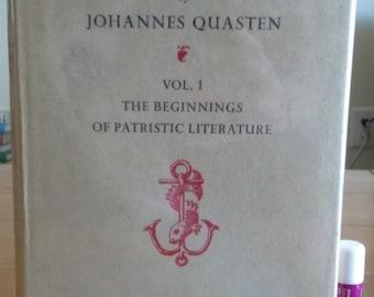 Patrology by Johannes Quasten Volume 1 1950