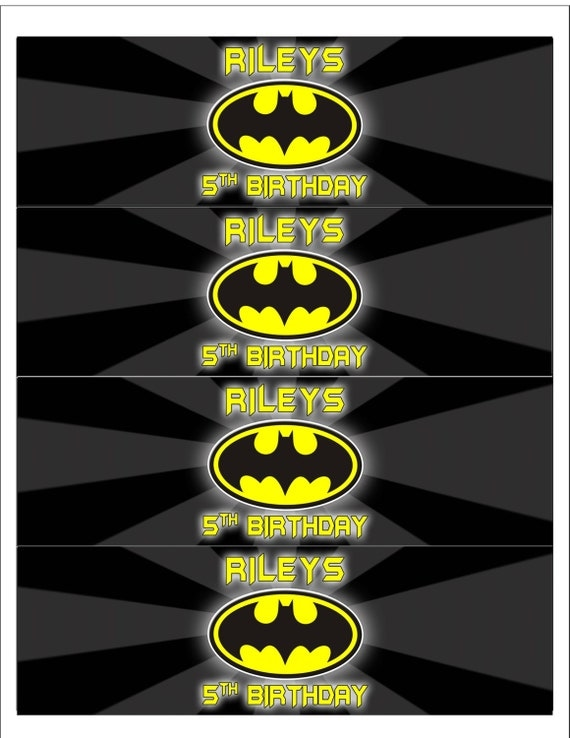 batman water bottle labels With batman water bottle labels