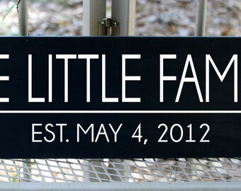Personalized Family Name sign with established date