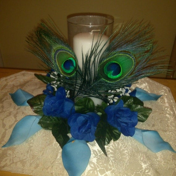Peacock Wedding Centerpieces Ideas