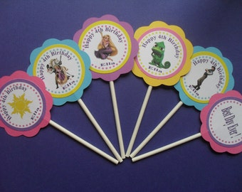 Rapunzel, Tangled Cupcake Toppers