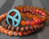 Peace Sign Stretch Bracelet