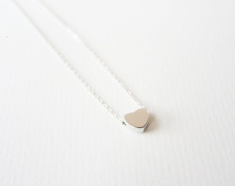 Heart necklace // Silver