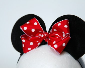 Custom Color Minnie Mouse Ears Headband - Personalize It!