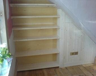 Understairs Shelving & Cupboard