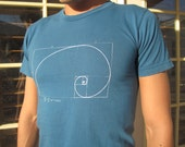Phi Ratio Tee Shirt by Light Machine Clothing.  Cotton. Extremely Comfortable and Fitted