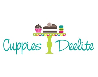 Boutique Logo Design, Custom Logo Designs With Macaroons And Cupcakes, Boutique Marketing And Branding
