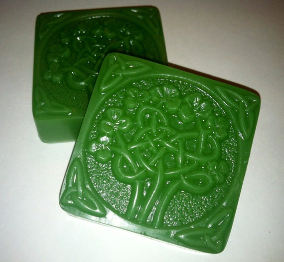 Celtic Knot Shamrock Tree Soap, 100% Natural and Vegan