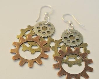 Gears of Change Earrings