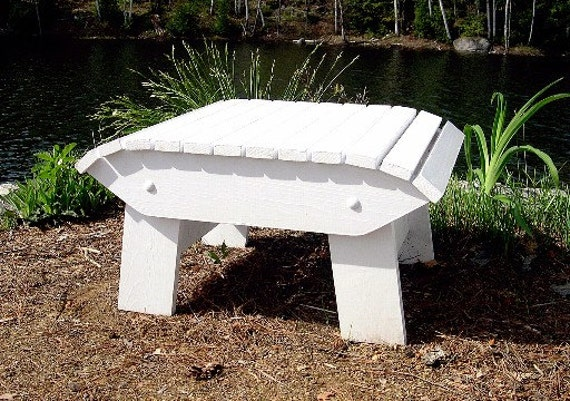 Adirondack Footstool Plans Dwg Files For Cnc Machines