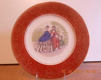 Victorian 23 Karat Gold Porcelain Plate