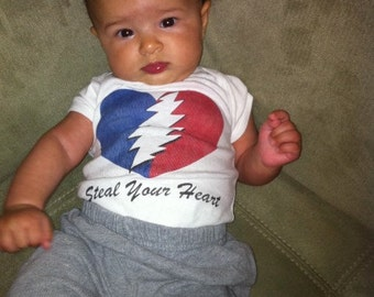 Grateful Dead Onesie  Steal Your Heart  Baby