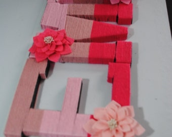 Yarn Wrapped Monogram Letters
