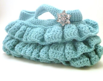 Ruffle Clutch MADE TO ORDER