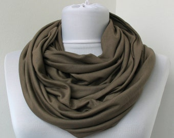Jungle Cotton Jersey Scarf - Infinity Scarf - Loop Scarf - Circle Scarf - Scarf Necklace - 452