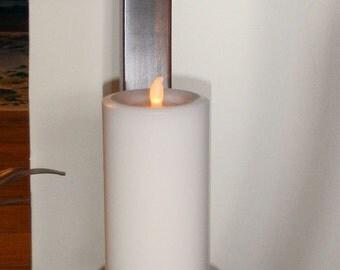 White Sandalwood Scented Pillar Candle (Flameless)
