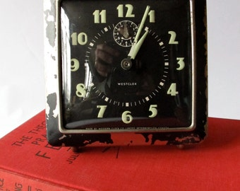 Vintage wesclox wind-up alarm clock