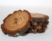 GORGEOUS - Unusual Flower shape - 5 Hand Crafted Tree Branch Buttons - Large size