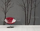 Tree Wall Decal Wall Sticker tree decal Vinyl decal- Bare Winter tree ( 6 trees )-DK008