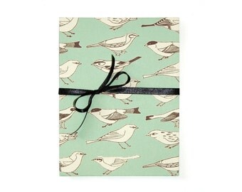 leporello photo album birds