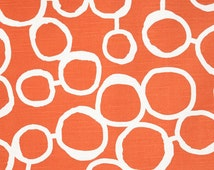 Orange Fabric Tangerine Premier Prints Freehand Tangelo slub cotton home decor Upholstery Fabric by the Yard  - 1 yard or more  - SHIPS FAST