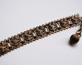 RESERVED for Ching- Ting Chang Vintage Egiptian Style Filigree Bracelet
