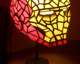 Iron Man Stained Glass Desk Lamp