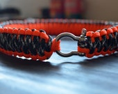 King Cobra Knot Large Paracord Dog Collar
