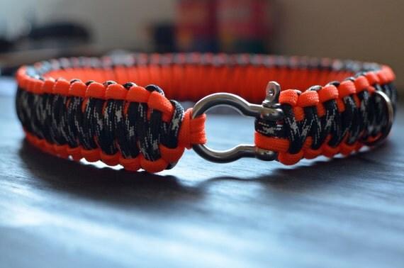 Items similar to King Cobra Knot Large Paracord Dog Collar on Etsy Y Dog Names