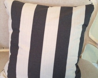 Wide striped pillow cover