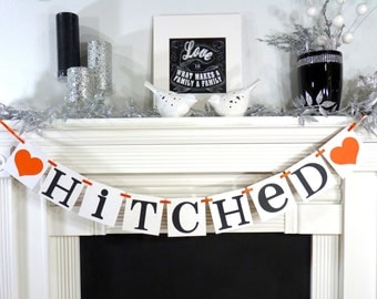 Wedding Garland / Hitched / Wedding Banner / Garland / Getaway Car Prop / Getting Hitched / Photo Prop / Wedding Decoration