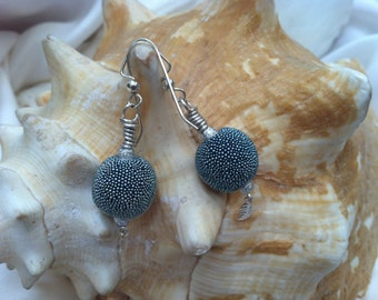 Dazzling Round Icy Blue Earrings