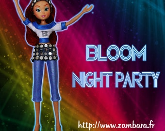Clothes for Winx dolls - Bloom Night Party