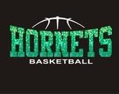 DIY Iron On Bling Transfer Jersey Shirt Sports Personalized Fan Wear Spirit Wear Custom Basketball Team Girls or Boys travel Basketball
