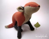 Fox Plushie, Fox Stuffed Animal, Fox Nursery, Soft Scultpure, Woodland Nursery Decor