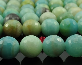 32 pcs of Amazonite  faceted round beads in 12mm