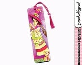 Handmade bookmark, Girl, fairy whimsical illustration bookmark with Tassle - Andrea