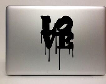 Macbook Decal love decal pop art  Macbook Stickers decal laptop decal iPad decals for macbook 018