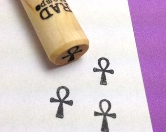 Ankh Symbol Rubber Stamp - Egyptian Key of Life