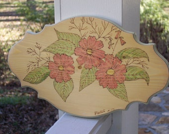 Primrose Woodburning Pyrography