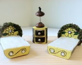 Fairy woodland yellow flower twin bed set - LightofdayCreations