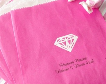 Personalized candy buffet bags, candy station bags, cake bags, customized with design names and date
