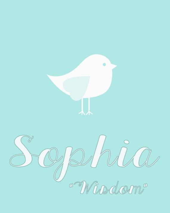 Items similar to Sophia Custom Name Meaning Digital Art ...